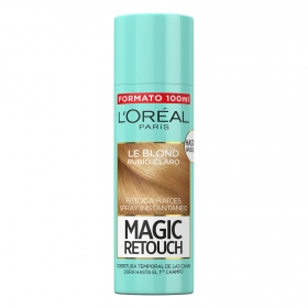 Tinte retoca raíces spray instantáneo rubio claro L'Oréal Magic Retouch 100 ml.