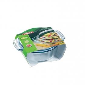 Cacerola honda con tapa de Vidrio PYREX Classic 2,5L - Transparente