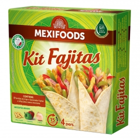 Kit fajitas Mexifoods 475 g.