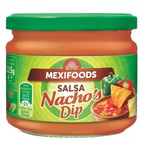 Salsa Nacho's Dip Mexifoods tarro de 315 g.