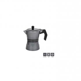 Cafetera A presión de Aluminio 3tzs Gris