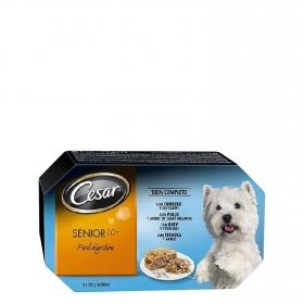 Alimento húmedo para perros Cesar. Multipack 4 tarrinas 150gr