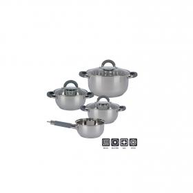 Bateria de Cocina Clásica de Acero Inoxidable 16, 18, 20, 24cm - Inox