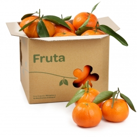 Mandarina selecta con hoja Carrefour Bolsa 1 Kg