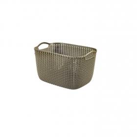Cesta de ordenación  de Plástico CURVER KNIT 24 x 40 x 30 cm - Marrón