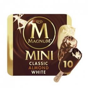 Helado mini clásico almendras y chocolate blanco