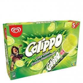 Helado de lima-limón Calippo sin gluten 5 ud.
