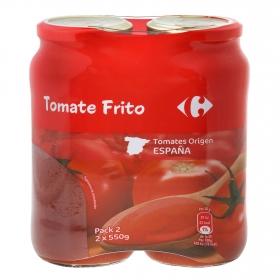 Tomate frito Carrefour pack de 2 unidades de 550 g.
