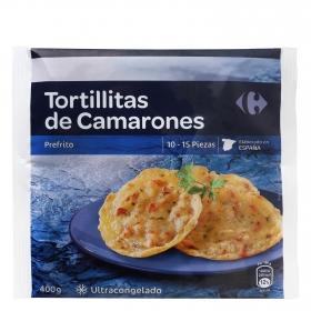 Tortillitas de Camarón Carrefour 400 g.