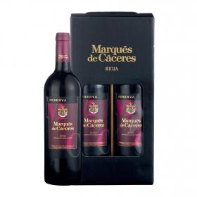 LOTE 87: 2 botellas D.O. Ca. Rioja Marqués de Cáceres tinto reserva 75 cl.