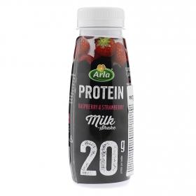 Yogur desnatado líquido alto en proteínas sabor fresa y frambuesa Arla sin lactosa 387 g.