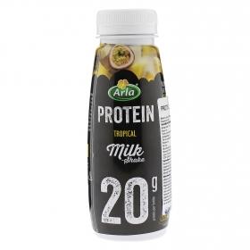 Yogur líquido desnatado sabor tropical alto en proteínas Arla sin lactosa 387 g.