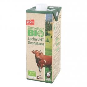 Leche desnatada ecológica Carrefour Bio  brik 1 l.