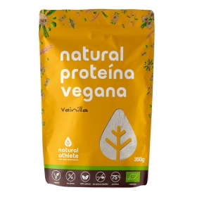 Proteina vegana natural sabor vainilla ecológica sin azúcar añadido Natural Athlete sin gluten 350 g.