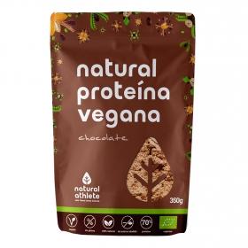 Proteina vegana natural sabor chocolate ecológica sin azúcar añadido Natural Athlete sin gluten 350 g.