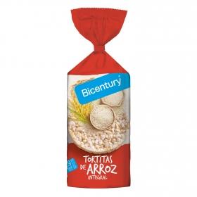 Tortitas de arroz integrales Bicentury 130 g.
