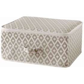 Caja con Tapa 46X46X20,5 cm - Beige