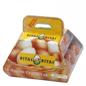 Huevos L Pitas cestillo 18 ud