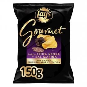 Patatas fritas sal marina y trufa negra gourmet Lay's 150 g.