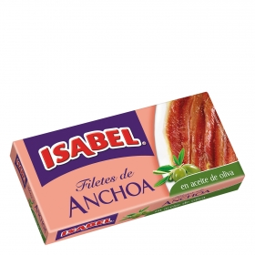 Filetes de anchoa en aceite de oliva Isabel 50 g.