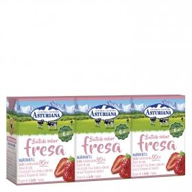 Batido sabor fresa