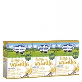 Batido de vanilla Central Lechera Asturiana pack de 3 briks de 200 ml.