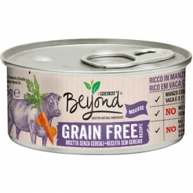 Alimento Gato Mousse de Buey Beyond Grain Free Tarrina 85 grs