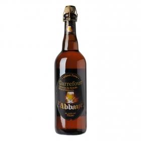 Cerveza Carrefour Abadía botella 75 cl.