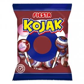 Caramelo con palo y chicle sabor cola Kojak Fiesta 7 ud.