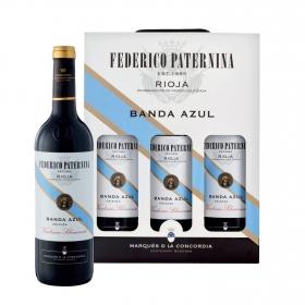 LOTE 72: 3 botellas D.O. Ca. Rioja Federico Paternina Banda Azul tinto crianza 75 cl. pack 3x75 cl.