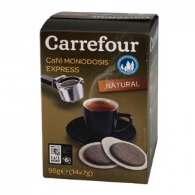 Café molido natural monodosis para cafetera express