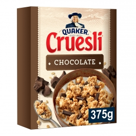 Cereales cruesli con chocolate