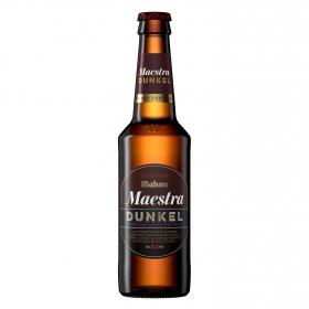 Cerveza Mahou Maestra Dunkel lager oscura botella 33 cl.