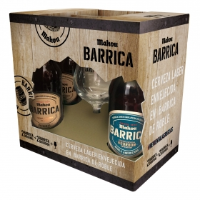 Cerveza (2 Original + 2 Bourbon) Mahou pack de 4 botellas de 33 cl