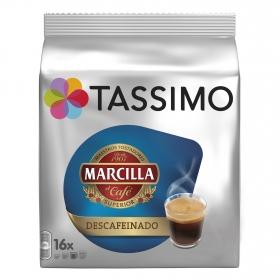 Café descafeinado en cápsulas Marcilla Tassimo 16 unidades de 7,4 g.