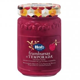 Mermelada de frambuesa de temporada Hero 350 g.