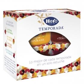 Surtido de mermeladas de temporada Hero pack de 4 unidades de 30 g.