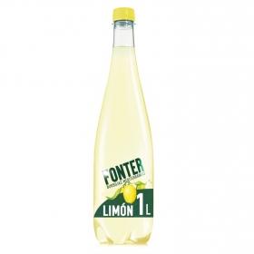 Agua mineral Fonter natural con gas con zumo de limón y lima 1 l.