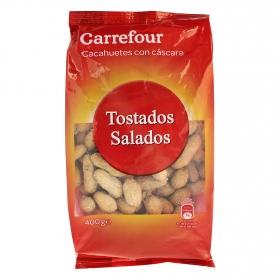 Cacahuetes tostados y salados Carrefour 400 g.