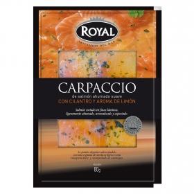 Carpaccio de salmón con cilantro y limón Royal 80 g.