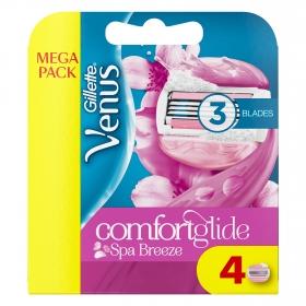 Recambio maquinilla Venus Breeze Gillette 4 ud.