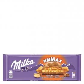 Chocolate con leche relleno de caramelo y cacahuetes Milka 276 g.