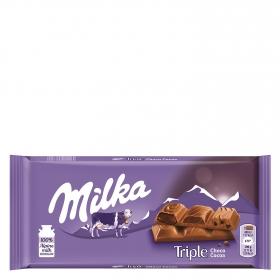 Chocolate triple choco cocoa Milka 90 g.