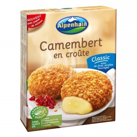 Cammembert gourmet frito con arandano rojo