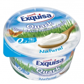 Queso fresco batido con yogur Quark Exquisa 500 g.