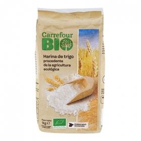 Harina de trigo ecológica Carrefour Bio 1 kg.