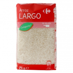 Arroz largo Carrefour 2 kg.