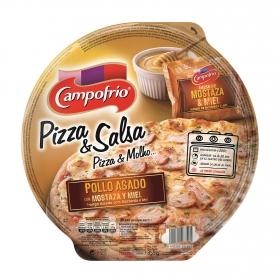 Pizza de pollo asado con miel y mostaza Campofrío 350 g.