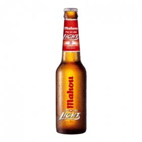 Cerveza Mahou Light premium botella 33 cl.