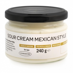 Salsa sour cream mexican style Mexifood tarro 240 g